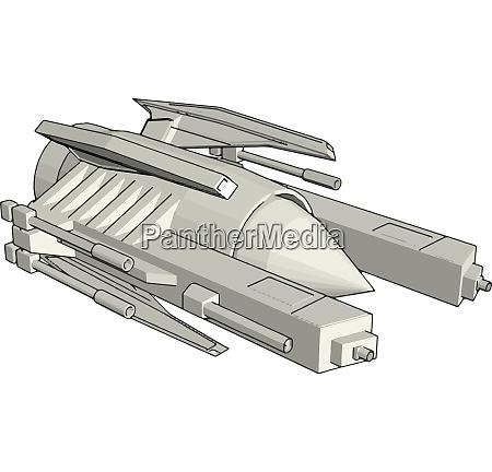 sci fi galaxy battle cruiser vector
