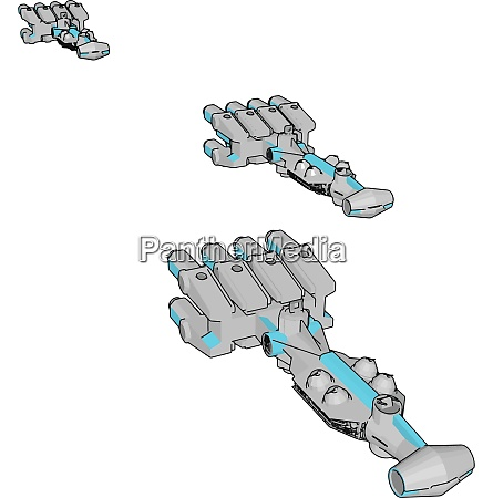 white and blue fantasy spaceships vector