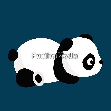 panda vector or color illustration