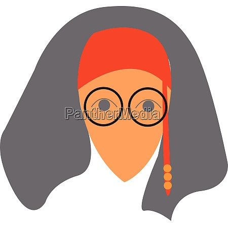 woman in glasses with boho headgear