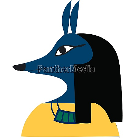 a jackal faced ancient god of