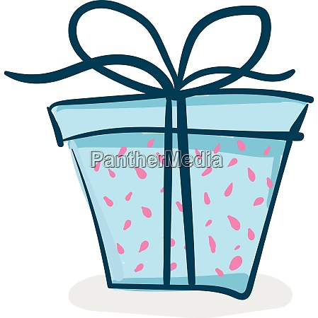 a present box wrapped in bright