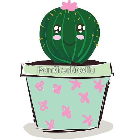 a happy cactus plant emoji with