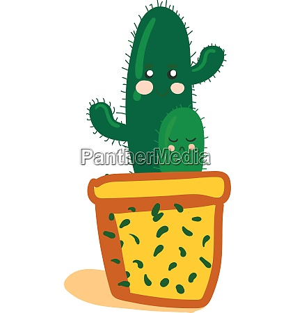 cactus plants emoji of different shapes