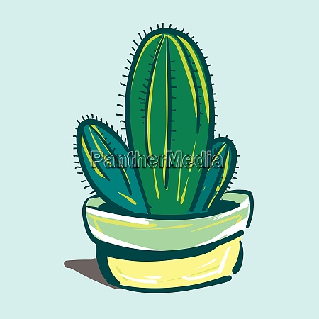 painting of a cactus plant against