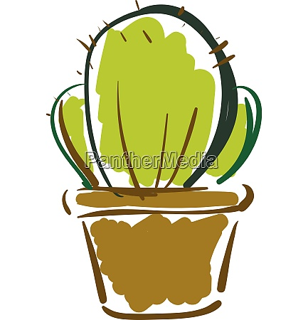 painting of a prickly cactus plant