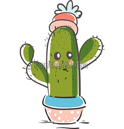 a green cactus plant emoji with