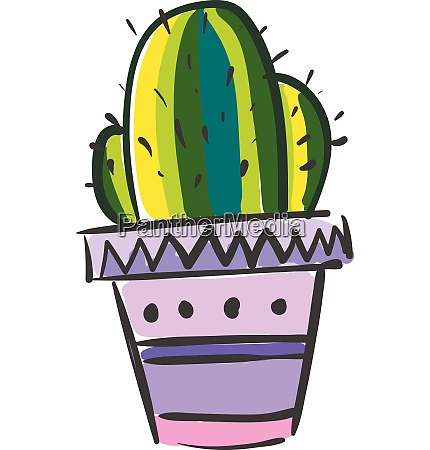 a colorful painting of cactus plant