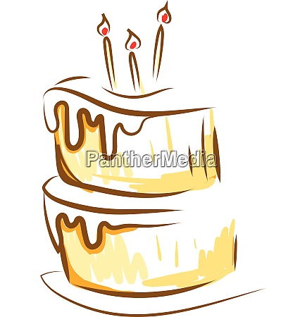 painting of a beautiful cake with