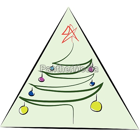 drawing of a christmas tree with