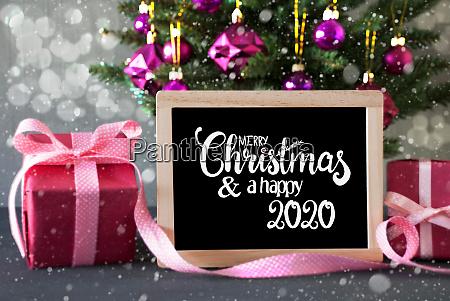 christmas tree pink gift bokeh merry
