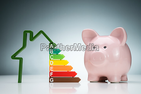 house energy efficiency graph near the