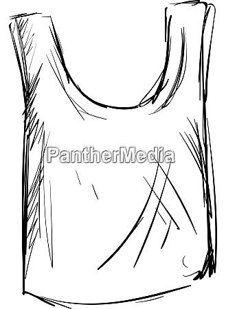singlet drawing illustration vector on white