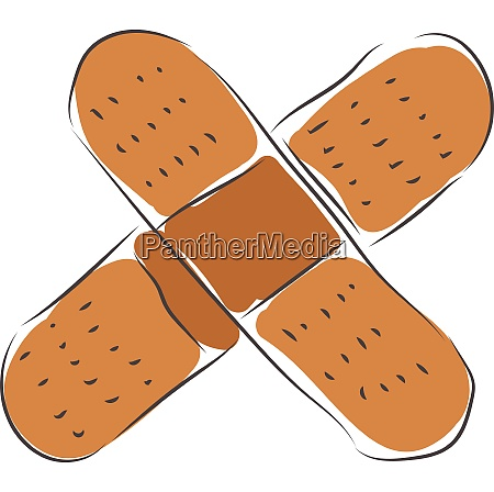 two adhesive plasters vector illustration on