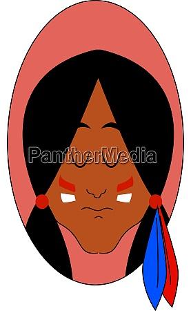 indian girl illustration vector on white