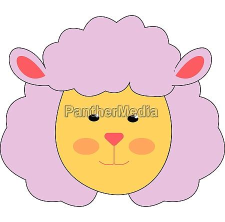pretty pink lamb vector illustration on