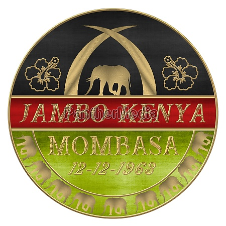 the flag of kenya with golden