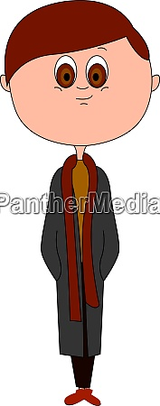 man with coat illustration vector on