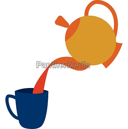 teapotevening snacks time vector or color