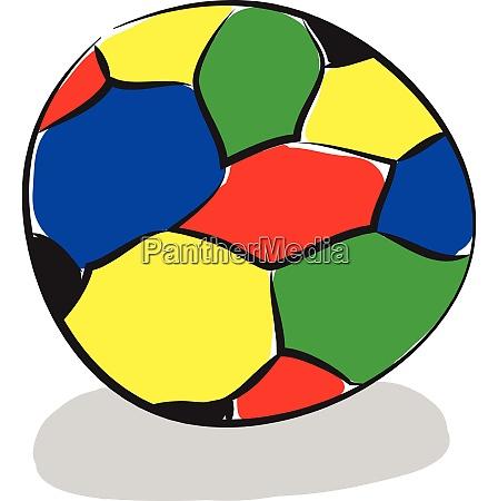 a colourful beach ball vector or