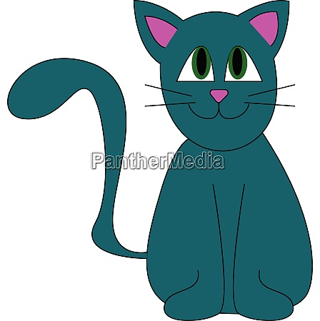 a blue cat with green eyes