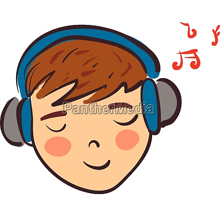 clipart of a boy listening to
