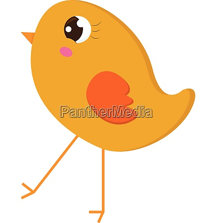 a small yellow chick vector or