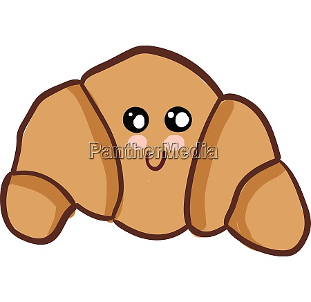 a small piece of croissant vector