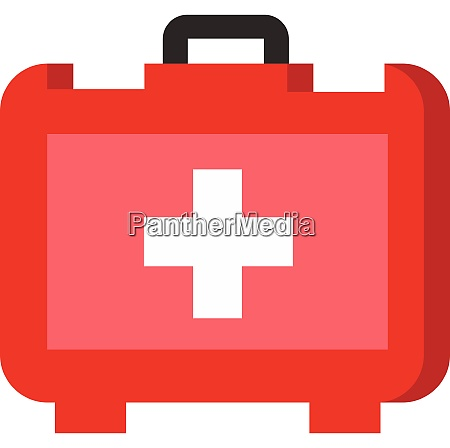 a red first aid kit vector