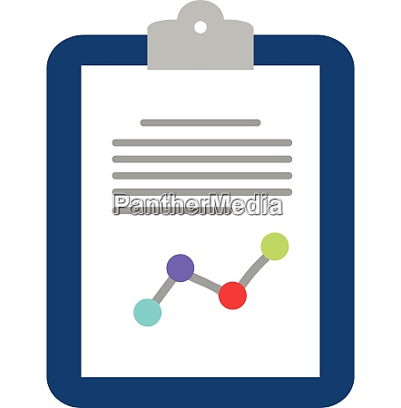 blue clipboard with information vector or