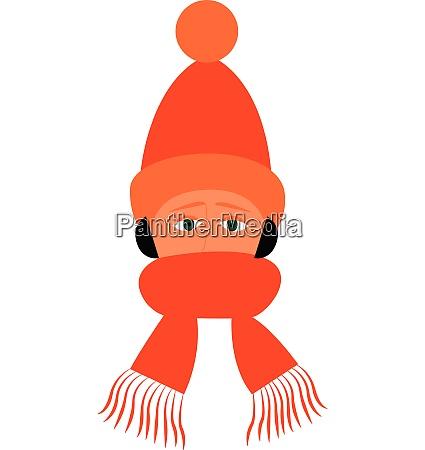 a boy wearing an orange winter