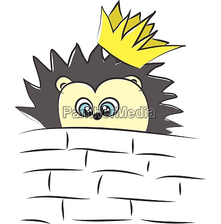 the tiny hedgehog with a crown