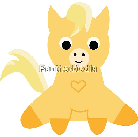 a yellow colored cute little poni
