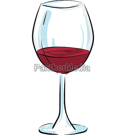cartoon champagne glassware filled with red
