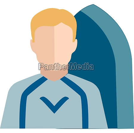 clipart of the character surfer vector