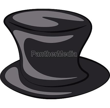 black magician cartoon hat vector or