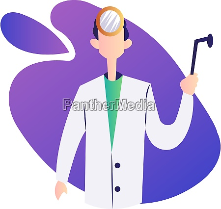 vector illustration of a doctor inside