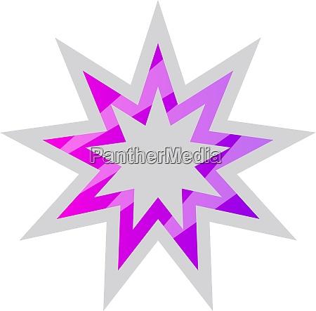 white and purple bahai star symbol