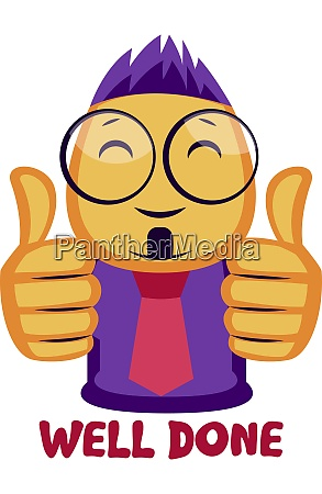 yellow guy showing two thumbs up