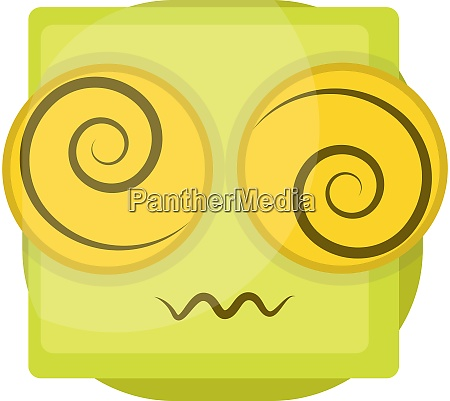 confused yellow emoji face vector illustration