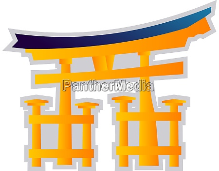 yellow and blue vector illustration on