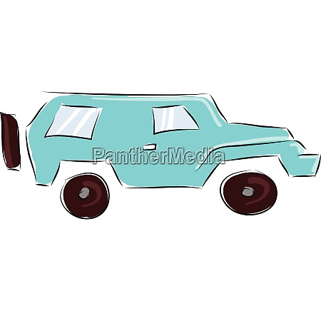 blue jeep vector illustration