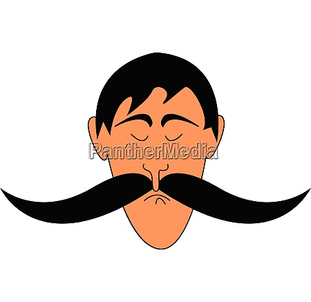 man with big mustaches illustration vector