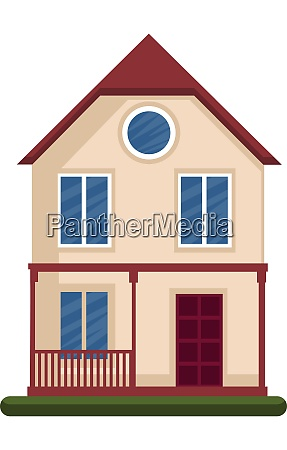 modern, vector, illustration, of, a, house - 27500586