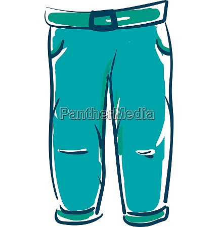 blue jean trousers vector or color
