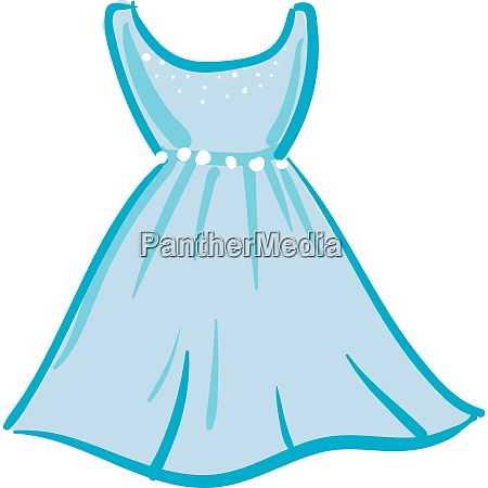 a luxury blue dress vector or
