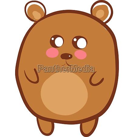 a cute brown bear vector or