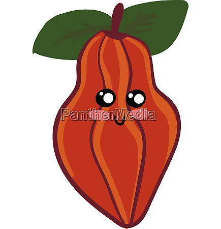 a cute red cacao vector or
