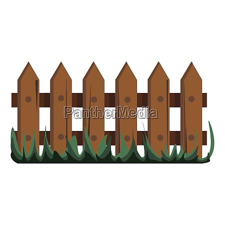 garden fence vector or color illustration