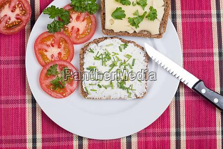 vesper bread on plate